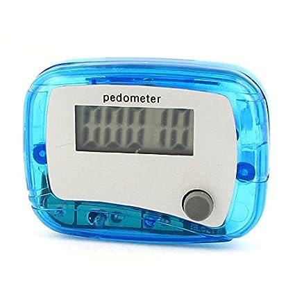 Esporte 5 dígitos Display LCD Passo contador digital pedômetro Clear Blue