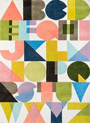 Novogratz Lulu Collection ABC Shapes Area Rug, 3 6 x 5 6 , Multicolor