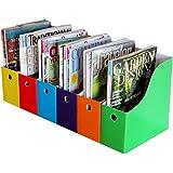 Six Colorful Magazine Files