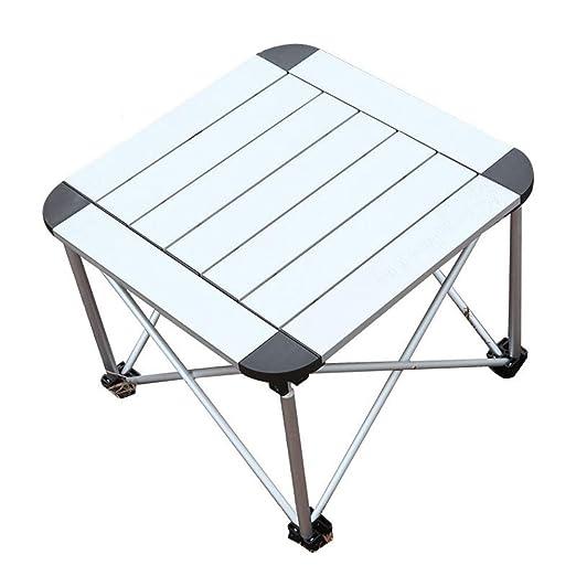 Furniture Mesa Plegable De Metal para Exterior, PortáTil Metal ...