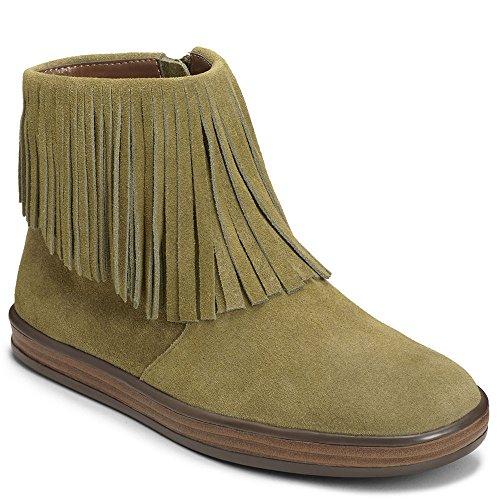 Aerosoles Womens Good Fun Boot Green Suede