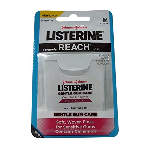 Listerine Gentle Gum Care Woven Floss 50 Yards (Pack of 8)