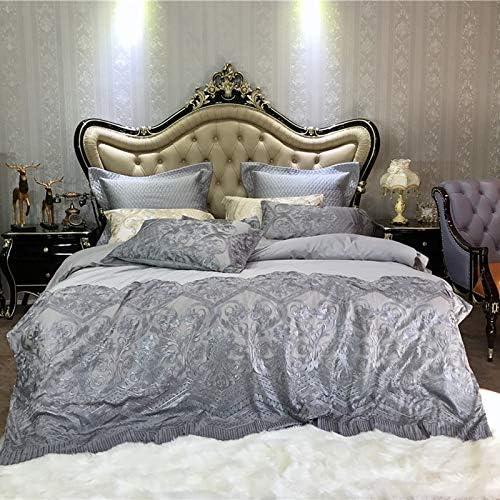 MIJIA Juego de sábanas de algodón Funda nórdica King Size de 4 y 7 ...