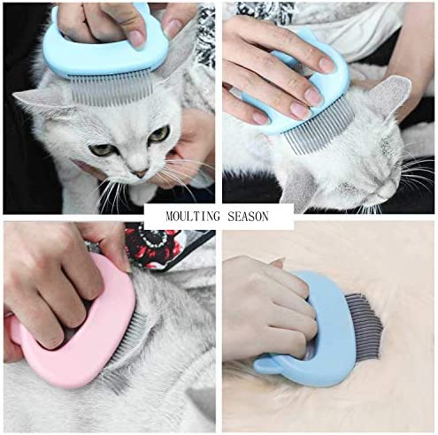 Yisscen Brosse pour chat, peigne pour chat, peigne de massage pour chats, brosse pour chien, Peigne pour Animaux de Compagnie et Brosse de Massage (Rose)