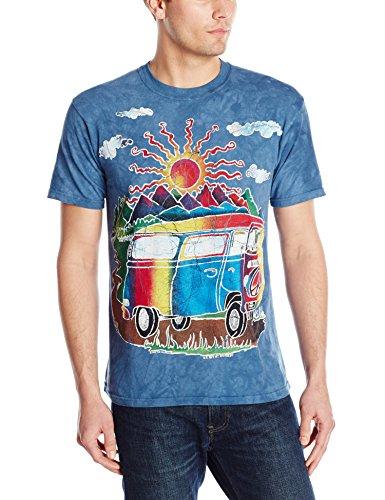 Mountain Unisex Erwachsen Batik Tour Bus Lifestyle T Shirt
