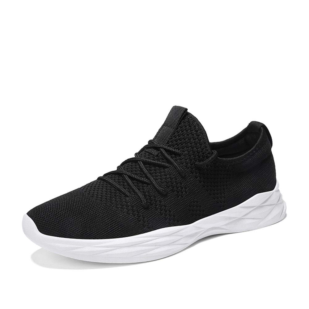 Black 8 UK Shangruiqi Athletic shoes for Men Sports shoes Lace Up Style Mesh Material Fresh and Breathable Shock Absorption Outsole AntiWear (color   Black, Size   8 UK)