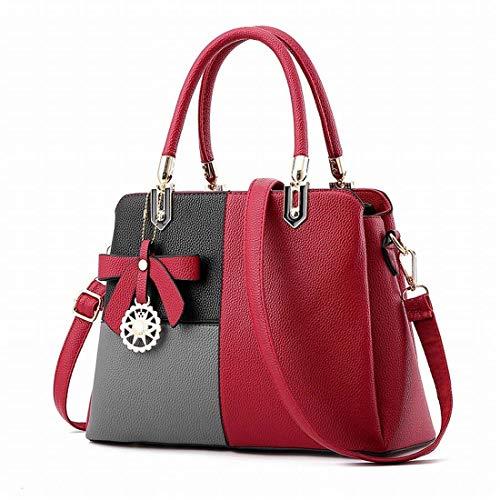 Bolso Fight Messenger Red Eeayyygch Oscuro Mujer Tamaño Wine Sweet color Lady Bag Bandolera Gris PYqdfa