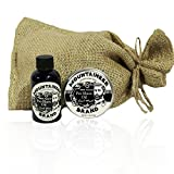 Pre-Shave Oil & Post -Shave Balm Combo by Mountaineer Brand: Cool Mint Scent--Soften before and Soothe after shaving