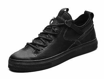 dcb918cb742869 Hommes Décontractée Cuir Appartement Chaussures 2017 L'automne Hiver  Nouveau Planche À Roulette Chaussures Poids