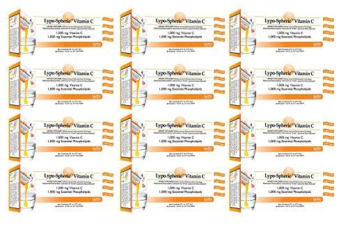 Lypo–Spheric Vitamin C – 12 Cartons (360 Packets) – 1,000 mg Vitamin C & 1,000 mg Essential Phospholipids Per Packet…