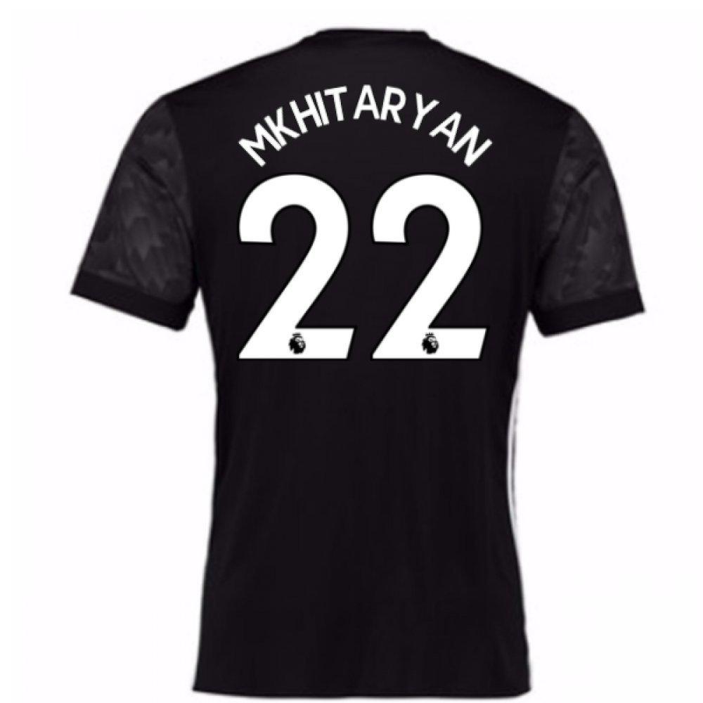 2017-18 Man Utd Away Football Soccer T-Shirt Trikot (Kids) (Henrikh Mkhitaryan 22)
