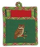 Woodland Owl 3-Pc Gifts Towel Potholder Dish Cloth Holiday Set Kay Dee
