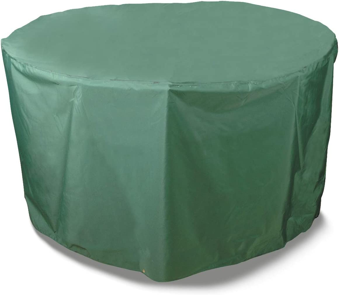 """Bosmere Weatherproof Round Table & Chairs Cover, 108"""" Diameter x 33"""" High, Green"""