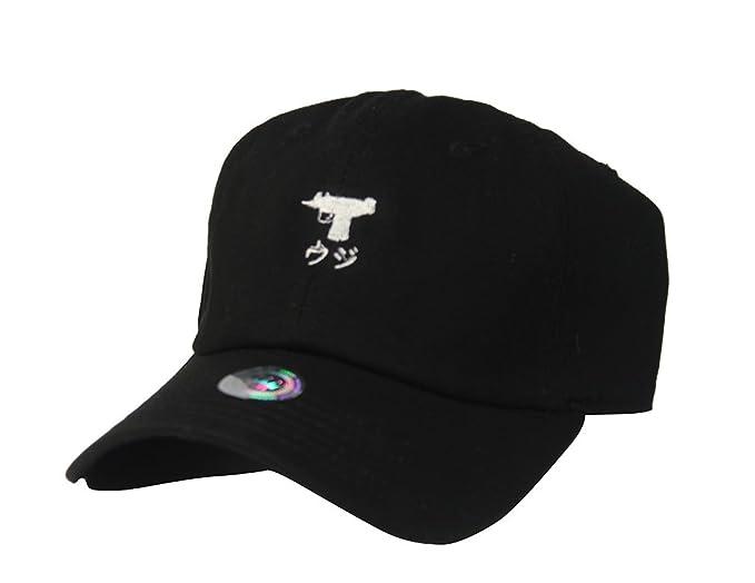Amazon.com: Custom Japan Uzi Black Twill Cotton Dad Cap Low Profile Adjustable Tumblr Cap Dad Hat: Clothing