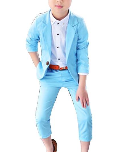 Trajes De Ceremonia para Niños Graduación Traje Niño Traje De Boda Blazer+ Pantalones Largos