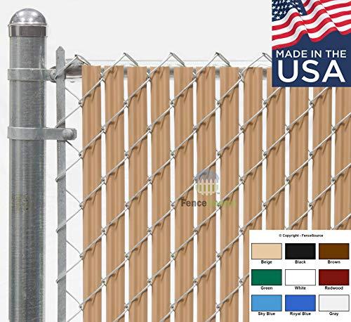Fence Source Wave SlatTM (9 Colors) Single Wall Bottom Locking Privacy Slat for 4