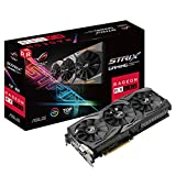 ASUS ASUS ROG Strix Radeon RX 580 T8G Gaming Top OC Edition GDDR5 DP HDMI DVI VR Ready AMD Graphics Card - ROG-STRIX-RX580-T8G-GAMING