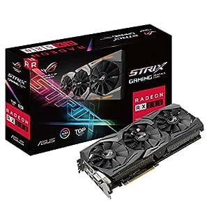 ASUS ASUS ROG Strix Radeon RX 580 T8G Gaming Top OC Edition GDDR5 DP HDMI DVI VR Ready AMD Graphics Card - ROG-STRIX-RX580-T8G-GAMING