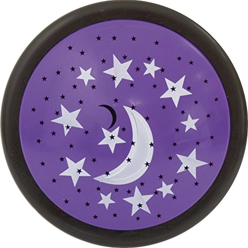 Jasco GE Purple Moon and Stars Projection Tap Light Night Light from US Seller from GE
