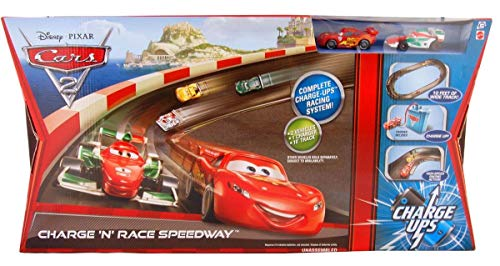Disney / Pixar CARS 2 Movie Exclusive Charge Ups Track Set Charge N Race Speedway