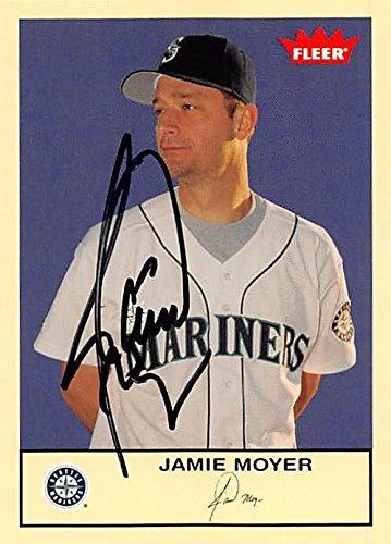 Jamie Moyer autographed Baseball Card (Seattle Mariners, SC) 2005 Fleer #242 - Baseball Slabbed Autographed Cards