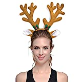 Christmas Reindeer Antler Headband, 2 Pack Funny Christmas Hat Deer headband Hairband Cap Costume for Adults Kids Children by DomeXmas
