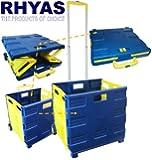 Extra Large Folding Shopping Cart Trolley Crate 35KG Capacity Folds Flat