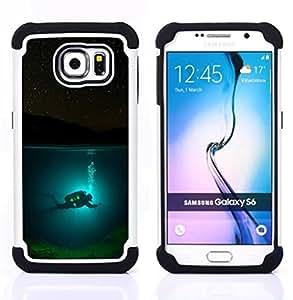 - scuba diver diving underwater tank night - - Doble capa caja de la armadura Defender FOR Samsung Galaxy S6 G9200 RetroCandy