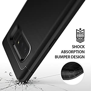 Samsung Galaxy Note 8 Phone Case Ringke [Onyx] [Extreme Tough] Rugged Flexible Protection, Durable Anti-Slip, TPU Heavy Impact Shock Absorbent Case for Galaxy Note8 - Black
