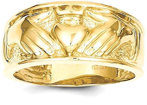 ICE CARATS 14k Yellow Gold Mens Irish Claddagh Celtic Knot Wedding Ring Band Size 10.00 Man Fine Jewelry Dad Mens Gift Set