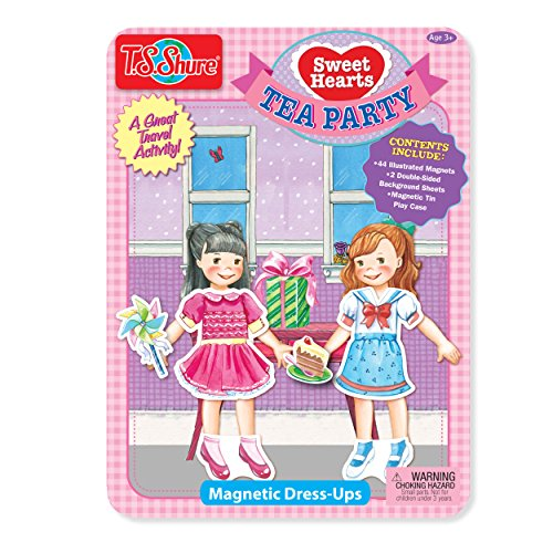 Playset Tin - T.S. Shure Sweet Hearts Tea Party Magnetic Tin Playset