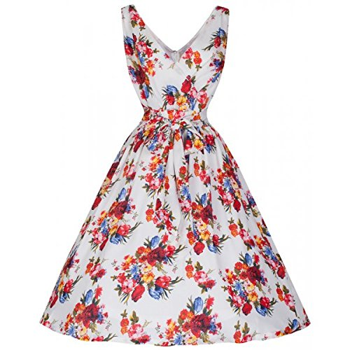 1950s Swing Dresses Lindy Bop Josephine Floral Fit and Flare Dress £18.79 AT vintagedancer.com