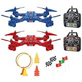 Remote Control Zip & Zap Racing Drones w/ 2 Transmitters, USB Cables & More
