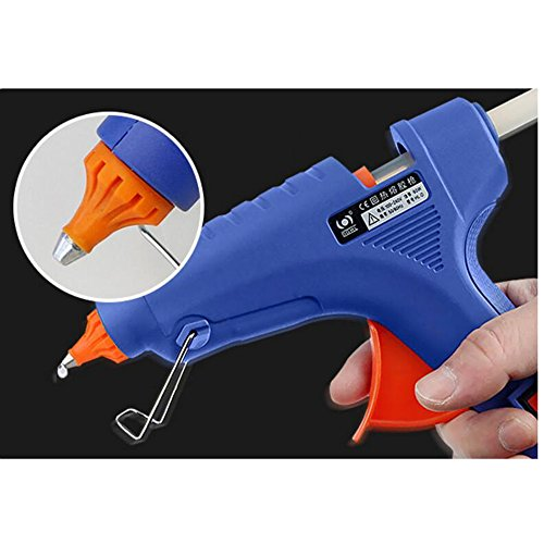 Wly&Home Hot Glue Gun 60W High Temperature Glue Gun, With 20 Professional Industrial Hot Glue Gun, Suitable For DIY, Small Art And Craft Purposes, Decoration/Gift Utility, Blue by Wly&Home