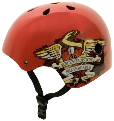 Kryptonics Helmet Red, Medium