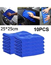 Microfiber Portable Cloths Cleaning Absorbent Duster Microfiber Car Towel Detailing New Soft Cloths Duster Home Clean (Color : Green)