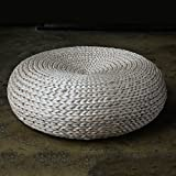 Round rustic beige straw floor cushions/floor pouf/Straw pouf/Pouf ottoman/Wholesales Bulk/meditation cushion/wedding gift/Country decor
