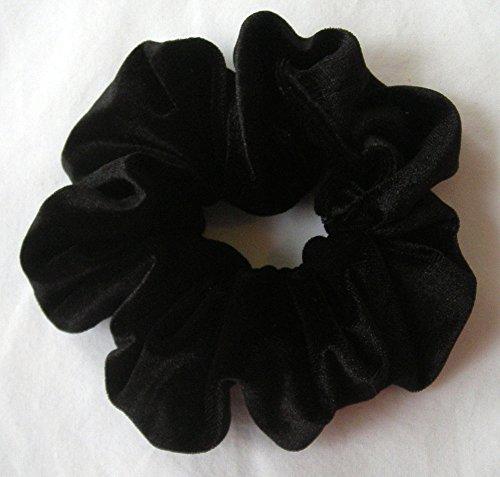 Black Velvet Scrunchy-regular - Scrunchies For Hair - Velvet Scrunchies - Made In The USA - Hair Scrunchies For Women - 3 Month Warranty - Scrunchies For Hair Velvet - Christmas gifts