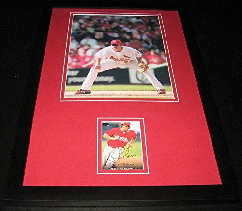 - Scott Rolen Signed Framed 11x17 Rookie Card & Photo Display Reds Cardinals - Baseball Slabbed Autographed Rookie Cards
