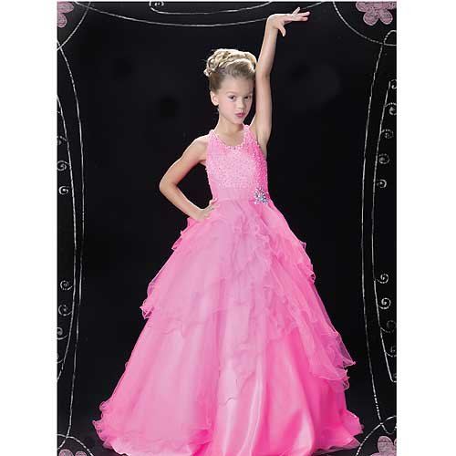 Pretty Pink Tulle Layered Ruffle Pageant Dress Toddler Girls 2T by Mac Duggal