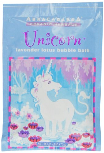 Abracadabra Organic Herbals Bubble Bath, Unicorn Lavender Lotus, 2.5 Ounce Abracadabra Bath