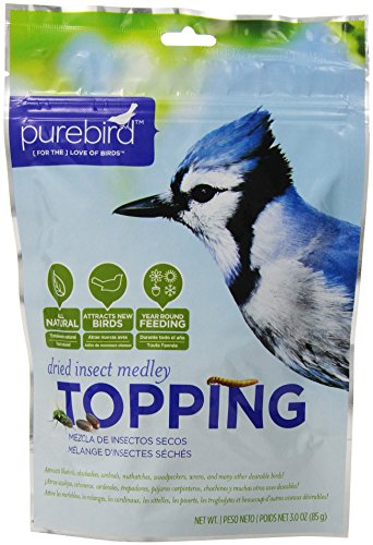 (Purebird Dried Insect Medley Topping For Wild Birds, 3.0 -Ounce)