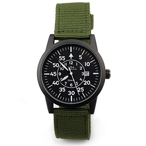 oDo Shmeichel Tactical Watch WW2 Luftwaffe Style Military Watch OD Green