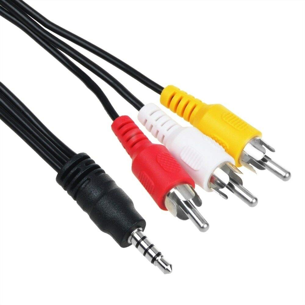 BigNewPowered New AV Audio Video Cable Cord for Sony Handycam CCD-TRV Series Hi8//8XR//72x Camcorder ccd-trv16 CCD-TRV48 CCD-TRV48e CCD-SC55 CCD-SC55e ccd-trv58 CCD-TRV68 CCD-TRV78 CCD-TRV78e CCD-TRV88