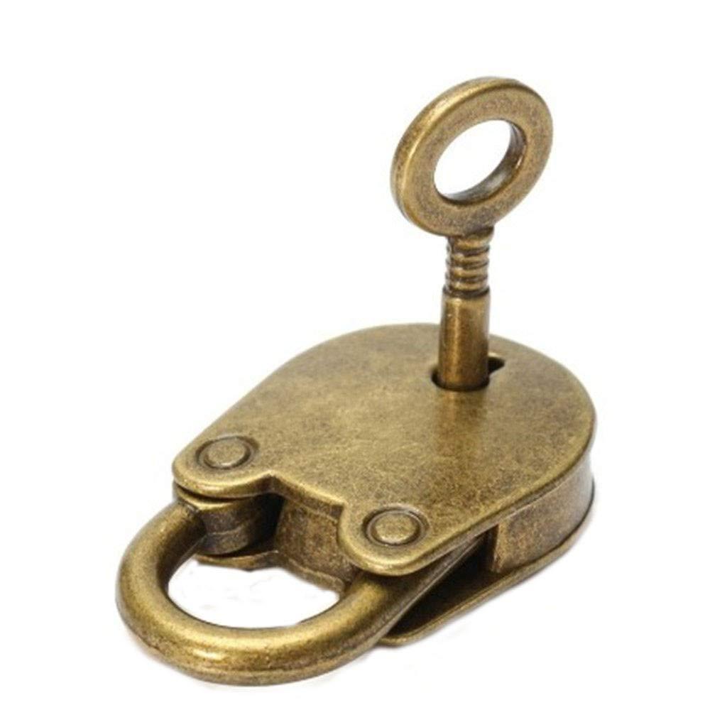 TianranRT★ Serratura a chiave per lucchetto Archaize in stile antico vintage con chiave Antique 3 pezzi,oro