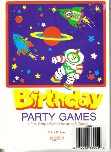 Birthday Party Games by L + B, Inc paper Art