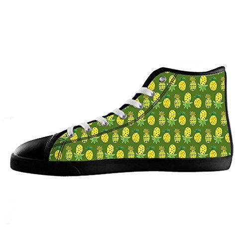 Custom Fumetto di ananas Womens Canvas shoes I lacci delle scarpe scarpe scarpe da ginnastica Alto tetto