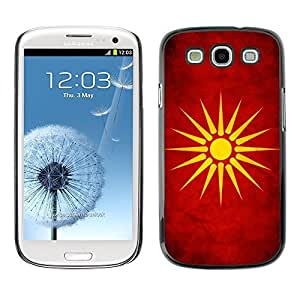 LJF phone case Shell-Star ( National Flag Series-Macedonia ) Snap On Hard Protective Case For Samsung Galaxy S3 III / i9300 i717