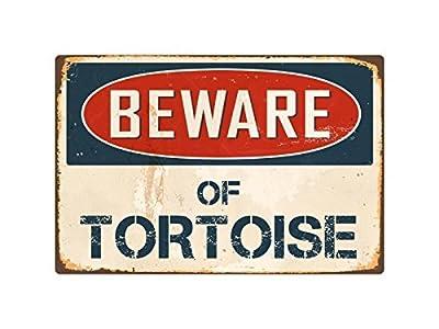 Teisyouhu Metal Sign Wall Decor Beware Of Tortoise Yard Garage Driveway House Fence Sign