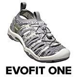 KEEN - Women's EVOFIT ONE Water Sandal for Outdoor Adventures, Gray/White, 7 M US